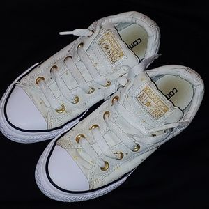 Converse All star  white with gold stars